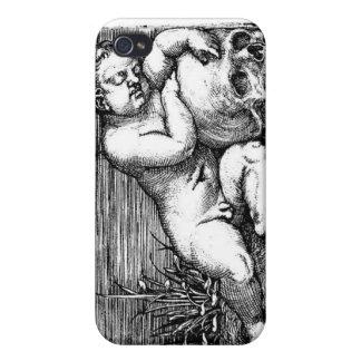 Caso del iphone del cráneo de la querube el dormir iPhone 4/4S funda