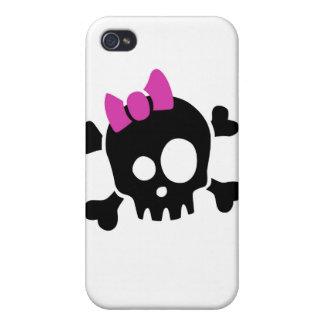 Caso del iPhone del cráneo de los chicas iPhone 4 Coberturas