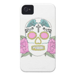 caso del iphone del cráneo del azúcar iPhone 4 Case-Mate cárcasa