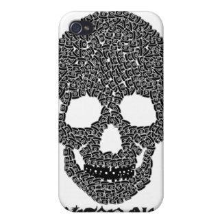 Caso del iphone del cráneo del casquillo iPhone 4 fundas