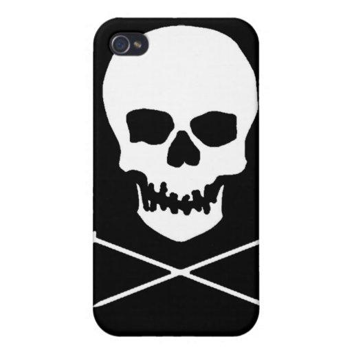 Caso del iPhone del cráneo y de la aguja iPhone 4/4S Fundas