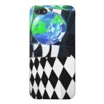 Caso del iPhone del cubo de la tierra iPhone 5 Protector