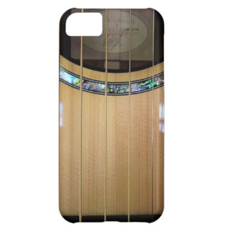 Caso del iPhone del detalle de la guitarra acústic Funda Para iPhone 5C