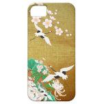 Caso del iPhone del diseño del japonés de la garza iPhone 5 Protectores