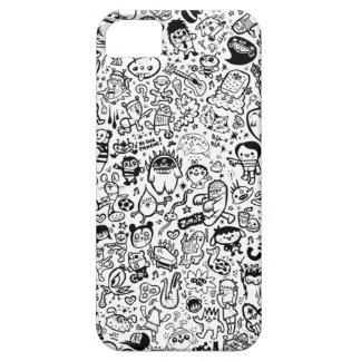 Caso del iphone del Doodle iPhone 5 Cárcasa