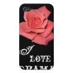 Caso del iPhone del drama del rosa rojo iPhone 4 Funda