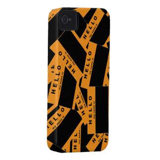 Caso del iPhone del ébano de Merhaba (naranja) Carcasa Para iPhone 4 De Case-Mate