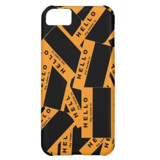 Caso del iPhone del ébano de Merhaba (naranja) Funda iPhone 5C