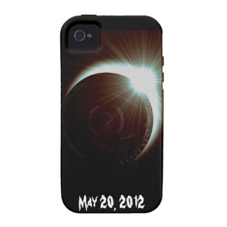 Caso del iPhone del eclipse solar Vibe iPhone 4 Carcasas