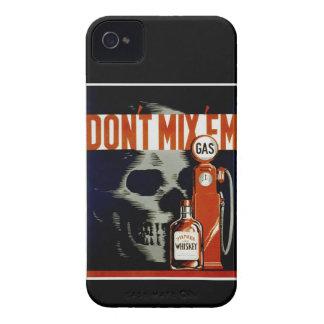"""Caso del iPhone del Em del ` del vintage """"no Case-Mate iPhone 4 Fundas"""