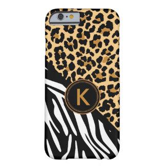 Caso del iPhone del estampado de zebra del Funda De iPhone 6 Barely There