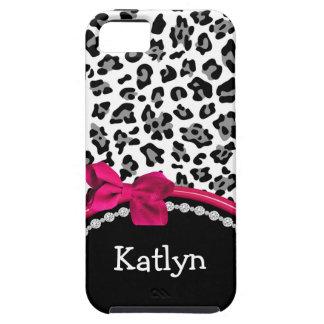 Caso del iPhone del estampado leopardo iPhone 5 Case-Mate Protectores