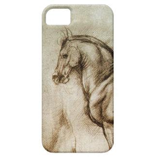 Caso del iPhone del estudio del caballo de da Vinc iPhone 5 Cárcasa