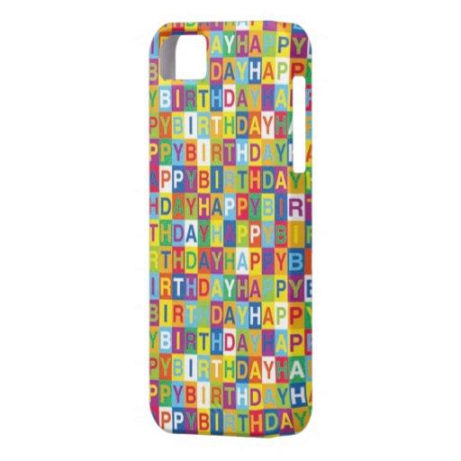Caso del iphone del feliz cumpleaños iPhone 5 Case-Mate carcasas