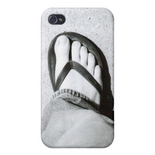 Caso del iPhone del flip-flop iPhone 4/4S Funda