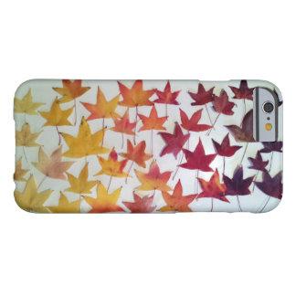 Caso del iPhone del follaje de otoño de las hojas Funda Para iPhone 6 Barely There
