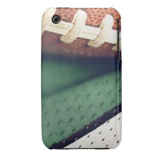 Caso del iPhone del fútbol - verde y blanco iPhone 3 Case-Mate Protector