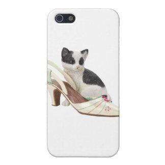 Caso del iPhone del gatito del gato del gatito iPhone 5 Funda