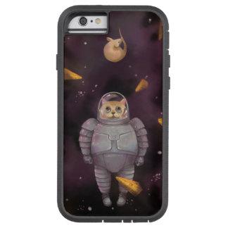 Caso del iPhone del gato del astronauta Funda Para iPhone 6 Tough Xtreme