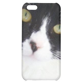 Caso del iPhone del gato del smoking