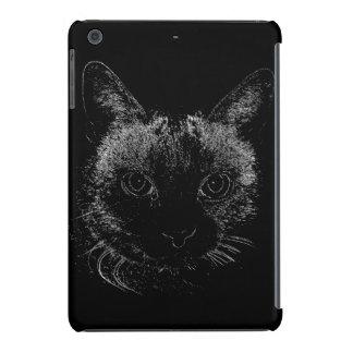 Caso del iPhone del gato negro Fundas De iPad Mini
