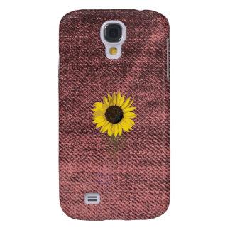 Caso del iphone del girasol del dril de algodón funda para samsung galaxy s4