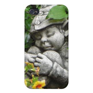 Caso del iPhone del gnomo del jardín iPhone 4 Protectores