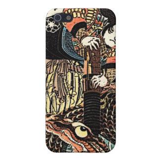 Caso del iphone del guerrero del samurai iPhone 5 carcasas
