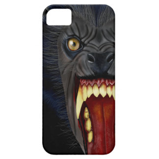 Caso del iPhone del hombre lobo Funda Para iPhone 5 Barely There