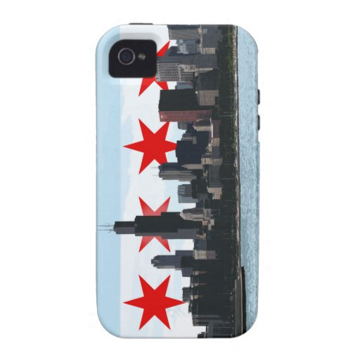Caso del iPhone del horizonte de la bandera de Chi iPhone 4/4S Carcasas
