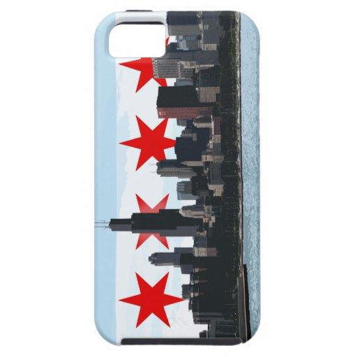 Caso del iPhone del horizonte de la bandera de Chi iPhone 5 Case-Mate Protector