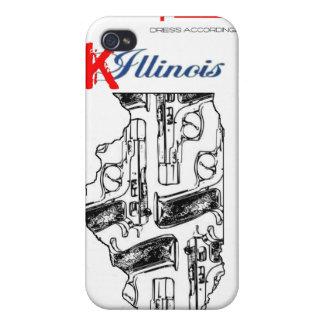caso del iPhone del IE K illinois iPhone 4 Cobertura
