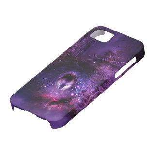Caso del iPhone del lobo del espacio iPhone 5 Case-Mate Protector