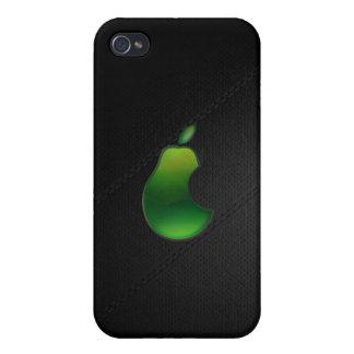 caso del iphone del logotipo de la pera iPhone 4 cárcasas