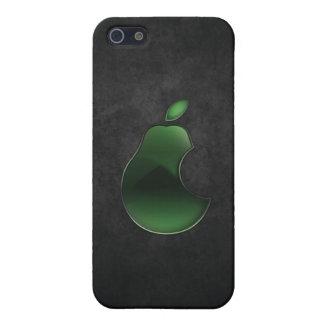 caso del iphone del logotipo de la pera iPhone 5 cárcasa