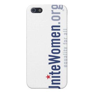 caso del iPhone del logotipo de UniteWomen.org iPhone 5 Protectores