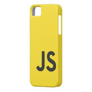 Caso del iPhone del logotipo del Javascript iPhone 5 Case-Mate Coberturas