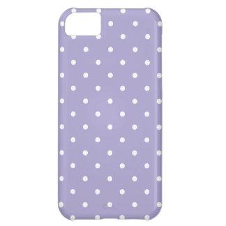 Caso del iPhone del lunar de la lavanda del estilo Funda Para iPhone 5C