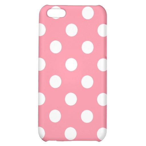 Caso del iPhone del lunar del rosa de color salmón