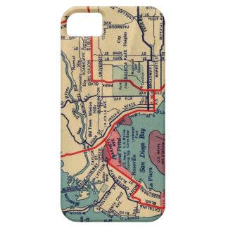 Caso del iPhone del mapa de San Diego iPhone 5 Funda