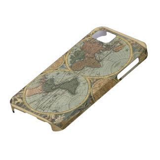 Caso del iPhone del mapa de Viejo Mundo iPhone 5 Case-Mate Protector