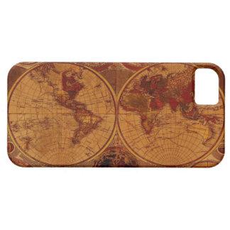 Caso del iPhone del mapa de Viejo Mundo iPhone 5 Carcasa