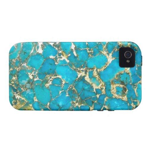 Caso del iPhone del modelo de la turquesa Vibe iPhone 4 Funda