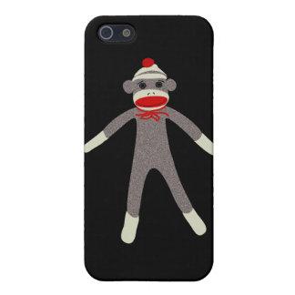 Caso del iPhone del mono 4G del calcetín iPhone 5 Funda