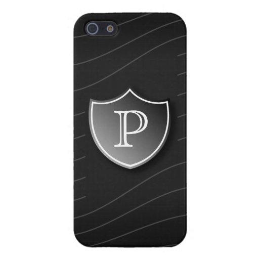 Caso del iPhone del monograma del escudo iPhone 5 Funda