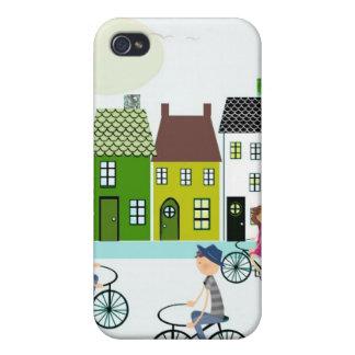 Caso del iPhone del montar a caballo de la bici iPhone 4 Coberturas