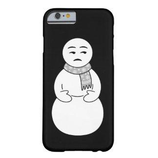 Caso del iPhone del muñeco de nieve de Emoji Funda Barely There iPhone 6