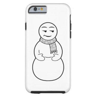 Caso del iPhone del muñeco de nieve de Emoji Funda Resistente iPhone 6