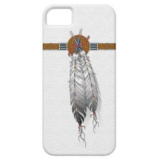 caso del iphone del nativo americano de la pluma iPhone 5 carcasa