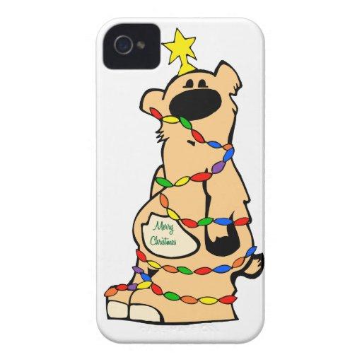 Caso del iphone del navidad de Honeybear iPhone 4 Fundas